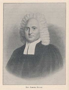 Rev. Samuel Davies [3 November 1723 - 4 February 1761]