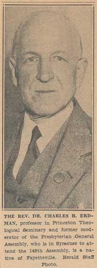 Dr. Charles Rosenbury. Erdman