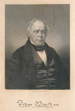Rev. Dr. Daniel Baker [17 August 1791 - 10 December 1857]