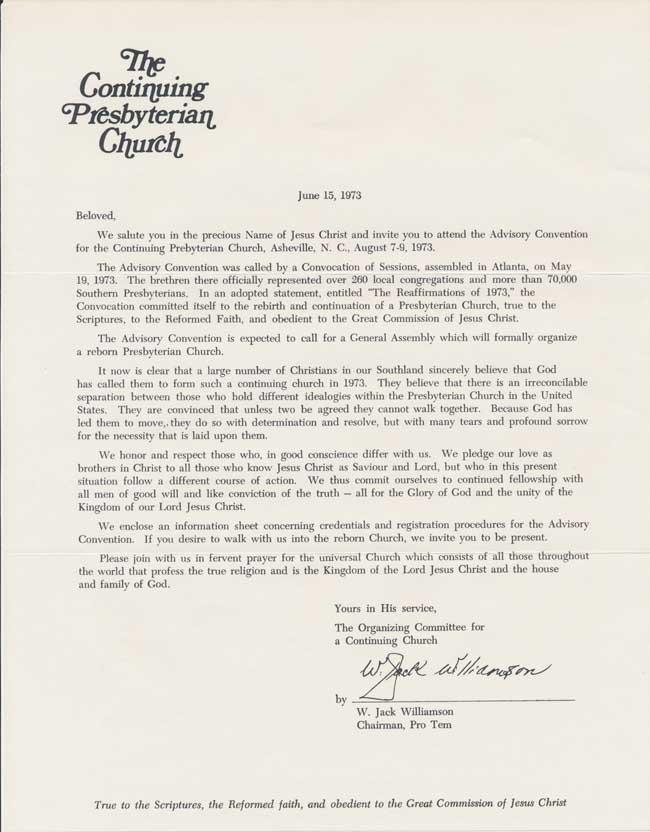 AdvisoryConventionLetter1973