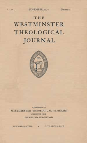 WESTMINSTER THEOLOGICAL JOURNAL EBOOK